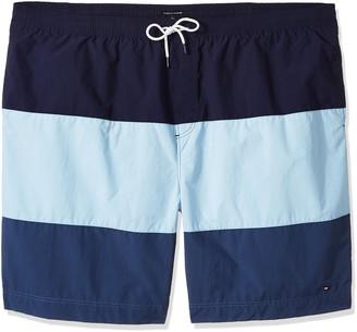Tommy Hilfiger Men's Big and Tall Swim Trunks Cannon Stripe