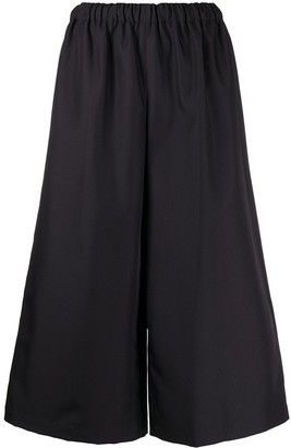 Comme des Garçons Comme des Garçons High-Waisted Cropped Culottes