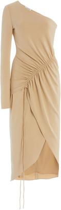 Cushnie One Shoulder Matte Jersey Dress