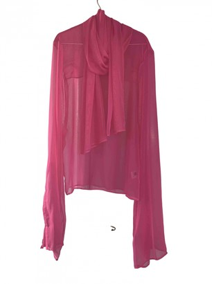 Y/Project Pink Silk Top for Women