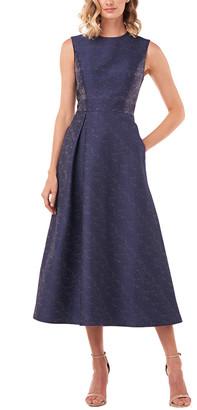 Kay Unger Belinda Textured Jacquard Dress