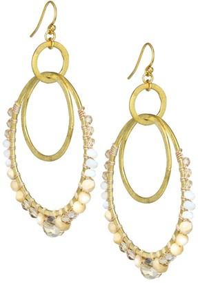 Chan Luu 18K Goldplated & Mixed Stone Double Hoop Earrings