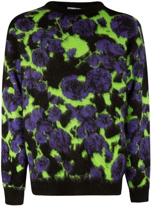 MSGM Floral Knit Sweater