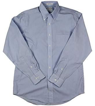 Eagle Men's Dress Shirt Regular Fit Non Iron Stripe
