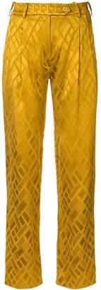 LAYEUR printed straight-leg trousers