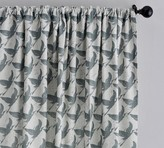 Pottery Barn Crane Print Curtain