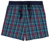 George Blue Check Pyjama Short