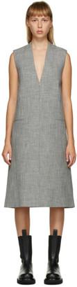 Peter Do Grey V-Neck Dress