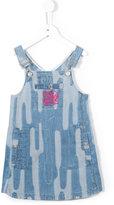 Kenzo printed denim suspender dress - kids - Cotton/Spandex/Elastane - 6 yrs