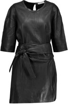 IRO Abigail belted leather mini dress