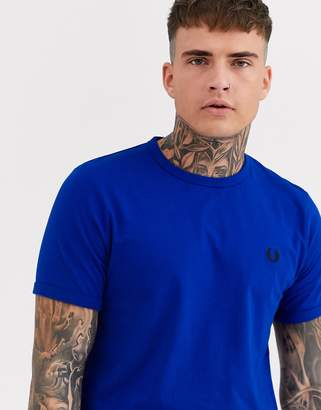 Fred Perry tonal ringer t-shirt in blue