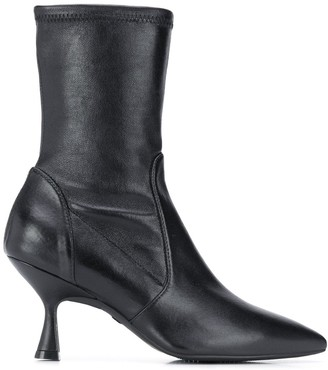 Stuart Weitzman Stiched Panels Ankle Boots