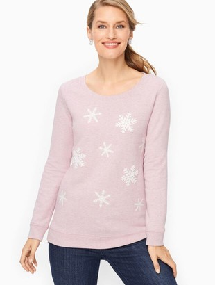 Talbots Embroidered Snowflake Sweatshirt