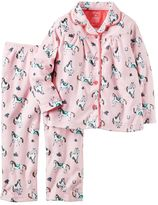 Carter's Toddler Girl Button-Down Top & Bottoms Pajama Set