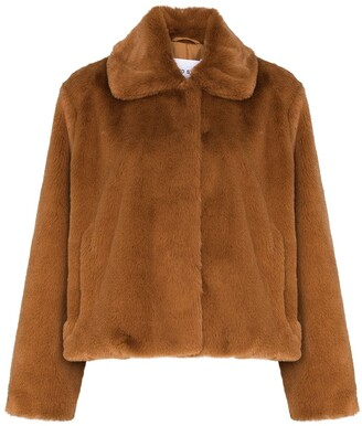 Stand Studio Marcella faux-fur cropped jacket