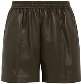 Givenchy Shorts In Army-green Leather - Army green
