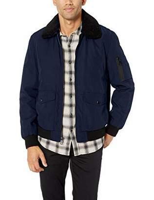 Calvin Klein Men's Bomber Jacket with Sherpa Collar