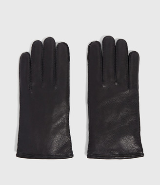 AllSaints Snap Leather Gloves