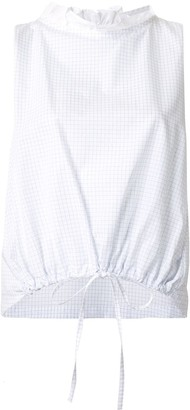 Atlantique Ascoli check print sleeveless top