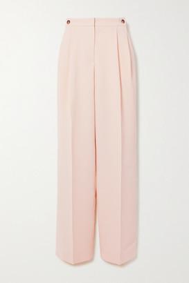 Victoria Victoria Beckham Grain De Poudre Straight-leg Pants - Peach