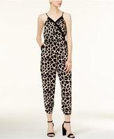 Bar III Giraffe-Print Jumpsuit, Only at Macy's