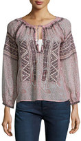 Calypso St. Barth Beldisa Paisley-Print Top, Apple