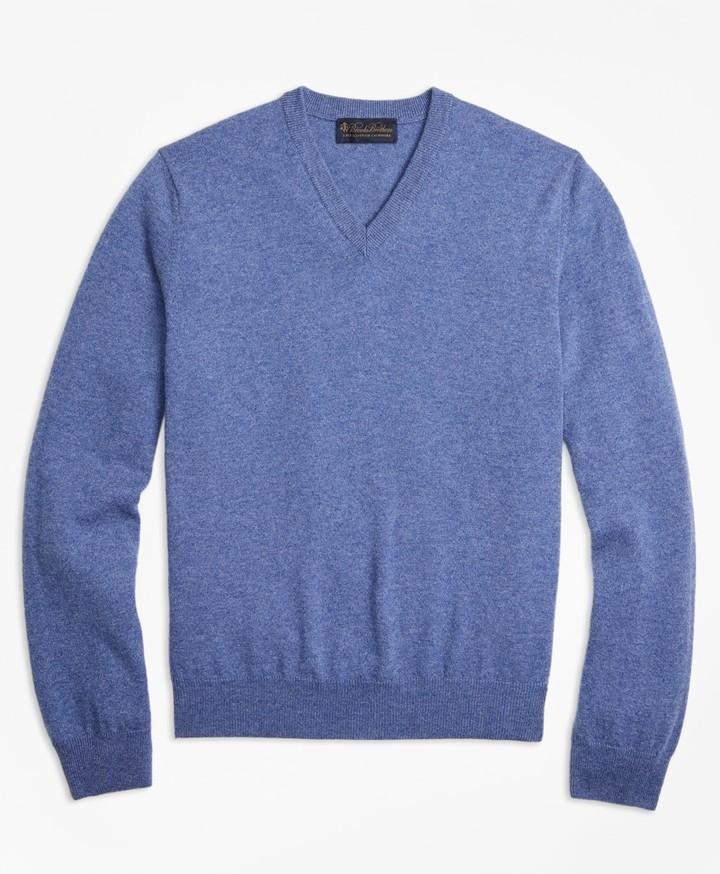 Brooks Brothers V-Neck Cashmere Sweater