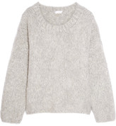 Chloé Oversized Mohair, Wool And Cashmere-blend Sweater - Gray