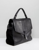 Urban Code Urbancode Real Leather Fold Over Bag