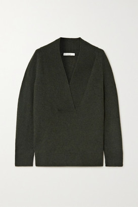 Vince Ribbed Wool And Cashmere-blend Sweater - Green