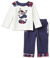 Wendy Bellissimo Baby Boys 3-9 Months Whale-Appliqued Tee & Solid Pant Set