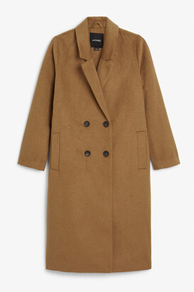 Monki Classic double-breasted coat