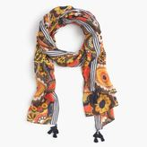 J.Crew Fall floral scarf