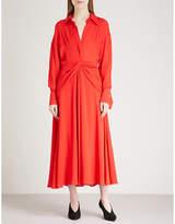 Victoria Beckham Twisted yoke silk-crepe dress