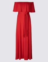M&S Collection Bardot Frill Sleeve Maxi Dress