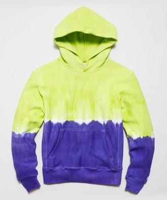Todd Snyder + Champion Neon Tie Dye Dip Popover Hoodie