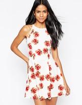 AX Paris Halterneck Cami Dress in Rose Print