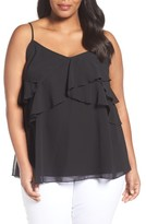 Sejour Plus Size Women's Sheer Ruffle Camisole