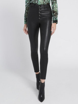 Alice + Olivia Good Mikah Leather High Rise Pant