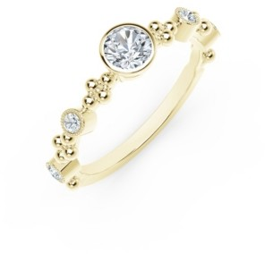 Forevermark Tribute Collection Diamond (3/8 ct. t.w.) Ring in in 18k Yellow, White and Rose Gold Ring.