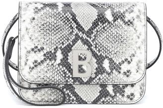 Balenciaga B. Small snake-effect leather shoulder bag