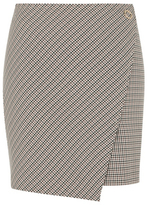 George Check Print Wrap Skirt