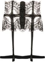 I.D. Sarrieri Christmas lace embroidered suspender belt