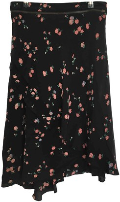 A.F.Vandevorst Black Silk Skirt for Women