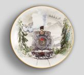 Pottery Barn Nostalgic Train Salad Plate, Set of 4