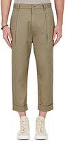 Helmut Lang Men's Twill Crop Trousers-BEIGE, TAN