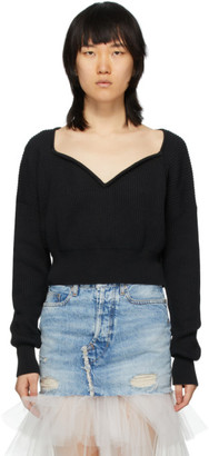 Unravel Black Cashmere V-Neck Sweater