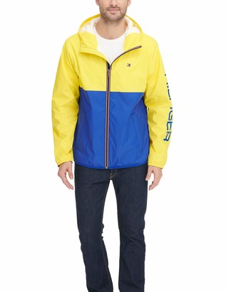Tommy Hilfiger Men's Color Blocked Logo Rain Slicker Jacket