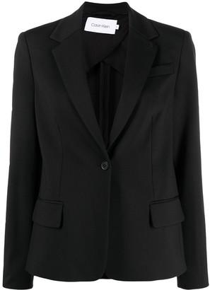 Calvin Klein Classic Single-Breasted Blazer