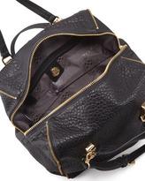 VC Signature Riley Pebbled Leather Satchel, Black